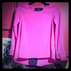 Jessica Simpson Hot Pink & Black Blouse
